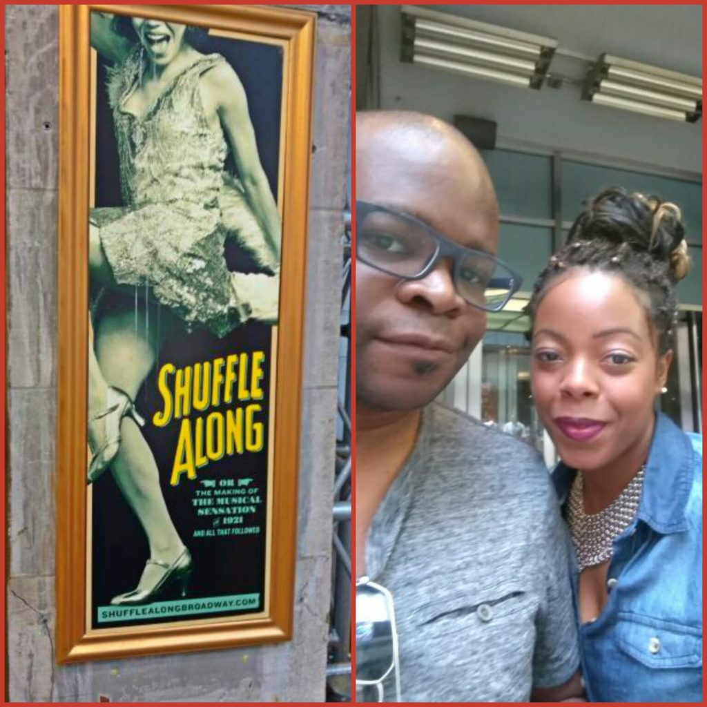 Broadway Play Shuffle Along. There was so much history behind this play and the choreography by Savion Glover was Marvelous!