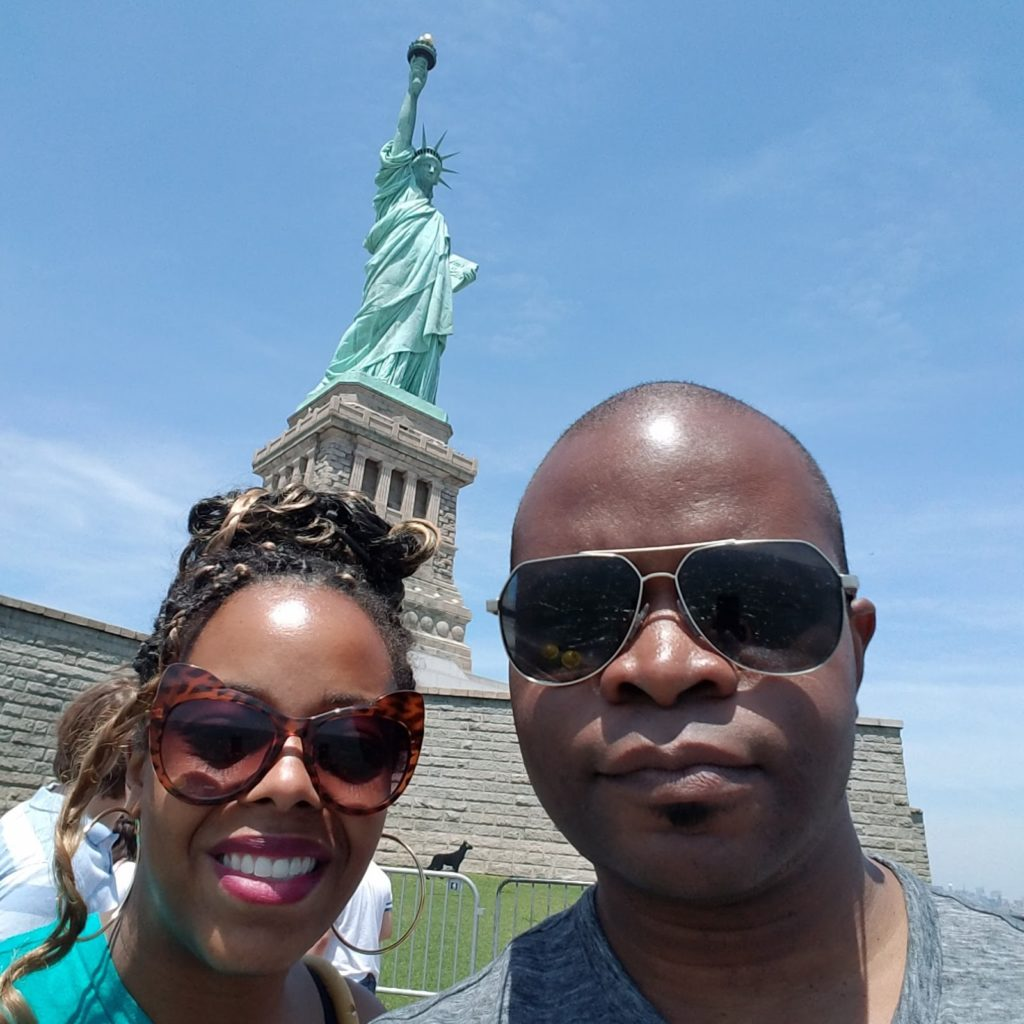 And of course we had to make it to see Lady Liberty...perhaps it was because it was Memorial Day weekend but we waited over an hour to get on the Ferry!