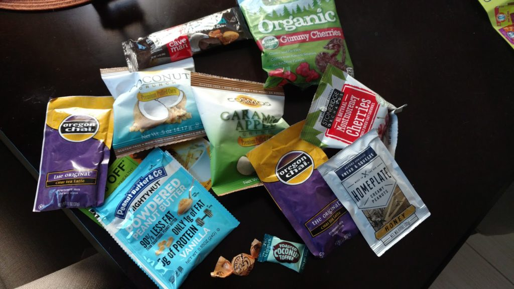 A few items from the Love with Food snack box. All non-gmo and no artificial ingredients