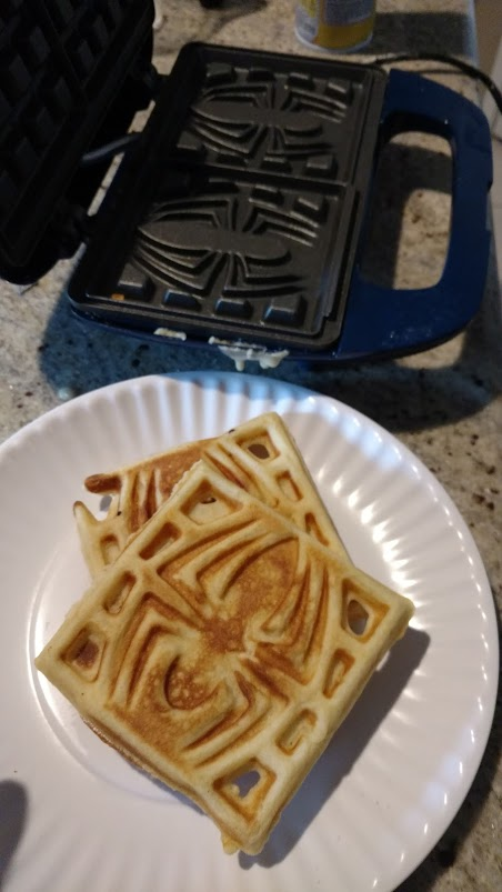 Spiderman waffles