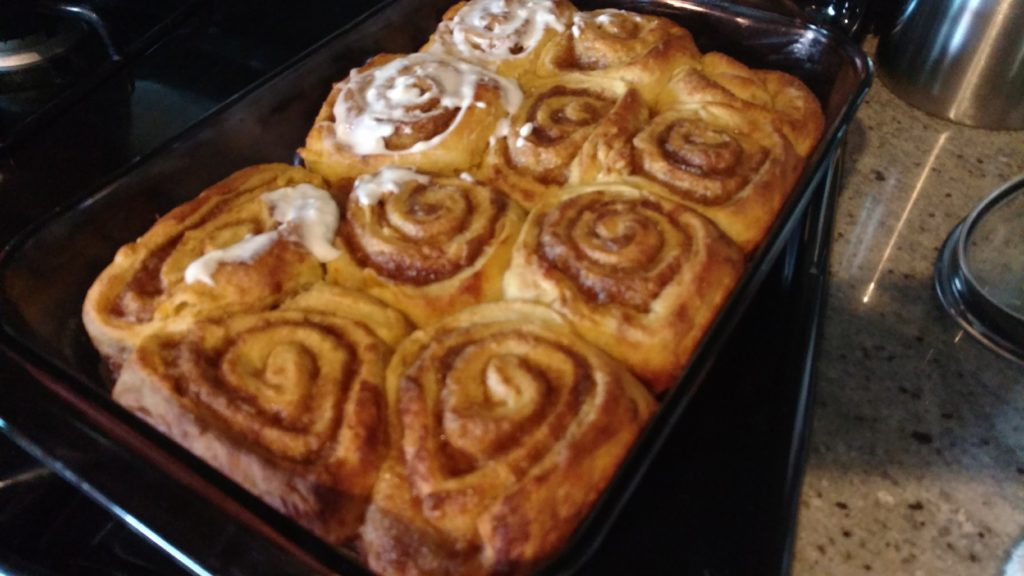 Voila! Pumpkin cinnamon rolls...not from a can!