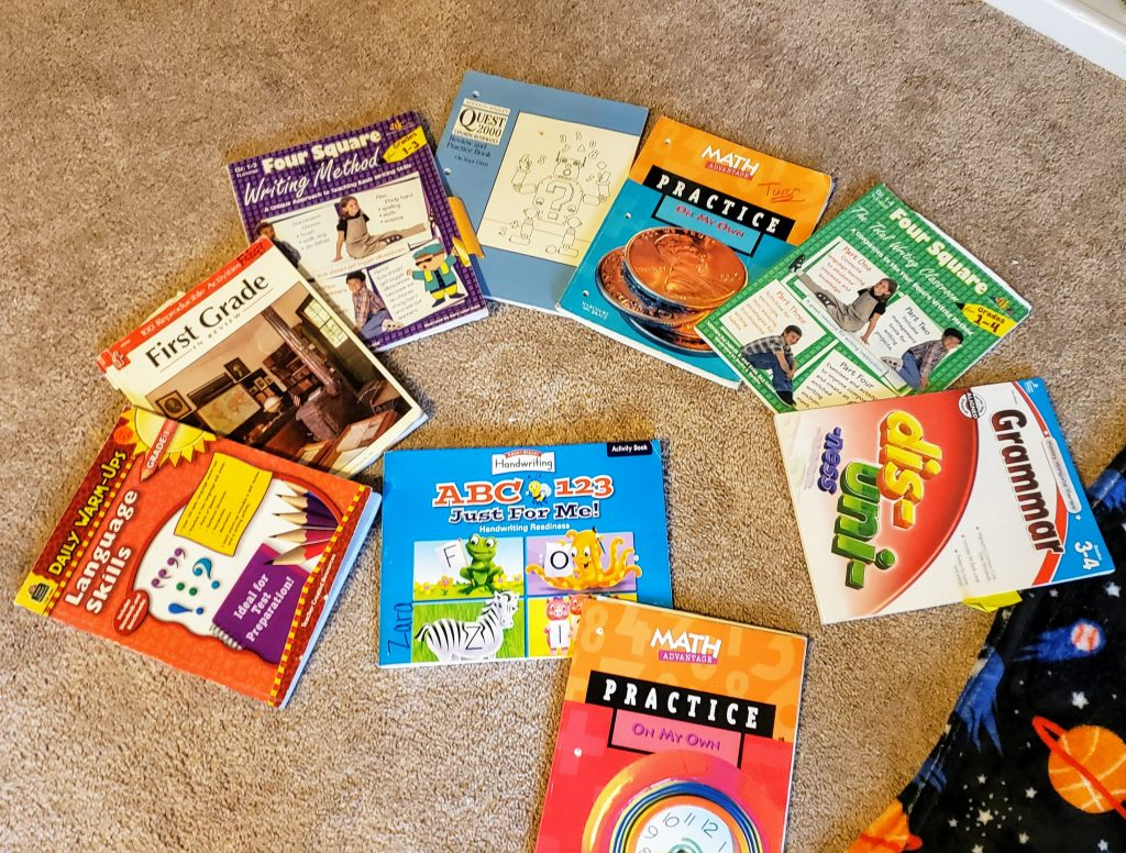 Workbooks for homeschooling